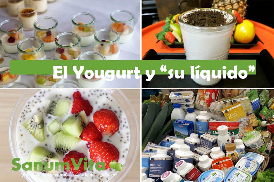 el liquido del yougurt